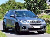 ★PAN ROOF★ (2010) BMW X5 4.0D M SPORT AUTO ★ CAMERA- SAT NAV - LEATHER -ALLOYS- ★7 SEATER ★