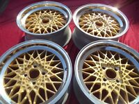 BBS MAHLE 4x100 7j 7J ET13 15 with BRAND NEW Toyo PROXES T1-R 195/45 R15 78V