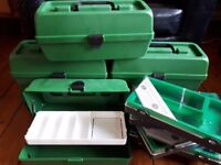 NEW plastic tool/storage/craft boxes