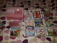 Nintendo 3Ds with games in excellent condition hardly been used