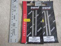 Trend tungsten carbide planer blades, PB/27, 92mm x 5.5 mm, for AEG 450 & Hitachi F30A or FU 30.