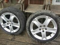pair of Peugeot 407 alloy wheels