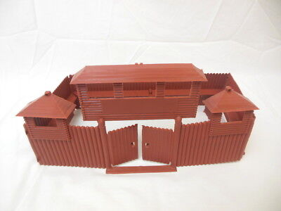 MPC Recast Snap Together Plastic Western Playsets Wood Stockade FORT!