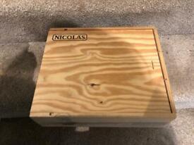 Wine box holder