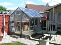 Greenhouse Aluminium and Glass, 8ft by 6ft