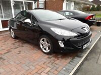 *** Stunning Peugeot 308cc Black with Full Leather Sports Seats ***