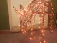 DETA WICKER FAIRYLIGHT REINDEER