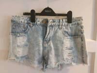 BooHoo denim shorts size 12