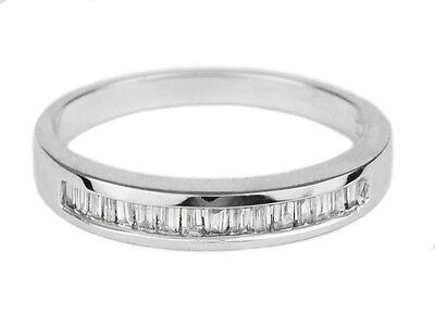 0.25 Carat Baguette Diamond Women's Wedding Band / Ring 14K Solid White Gold