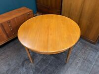Extending Circular G Plan Fresco Teak Dining Table. Retro Vintage Mid Century 1960s