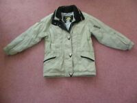 LADIES / GIRLS BEIGE DESCENTE SKI SUIT IMMACULATE