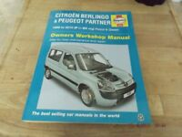 citroen berlingo & peugeot haynes owners workshop manual