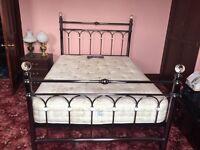 Antique Nickel 'Krystal' Double Bed Frame