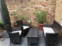 outdoor garden furniture set of 4 pieces