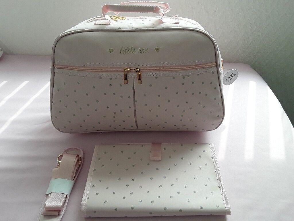 Polka Dot Changing Bag /& Matching Mat
