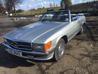 Mercedes 350 sl automatic classic 1980 V REG silver with blue checked trim FULL SERVICE HISTORY