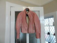 Ladies leather motorcycle jacket, Alpine Stars Stella, Pink, good condition, £60 buyer collects.