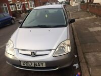HONDA CIVIC 1.6 AUTOMATIC ONE LADY OWNER WITH FULL SERVICE HISTOURY AND MOT