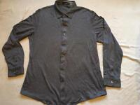 Fllorinteno men's shirt long sleeves black grey colour size XL used £3