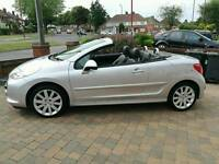 Immaculate silver Peugeot 207cc, Diesel, 1.6, full black leather, 49,000miles