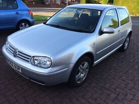 VW GOLF GT TDI PD 130 BHP 2002 52 Reg SILVER 3 DOOR TURBO DIESEL 12 MONTHS MOT