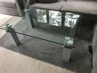Plate glass coffee table