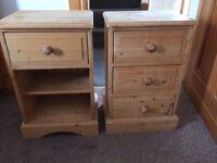 2 bedside Pine Lockers