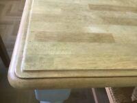 Farmhouse dining room table.