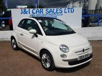 FIAT 500 1.2 LOUNGE 3d 69 BHP A GREAT EXAMPLE INSIDE AND OU (white) 2014