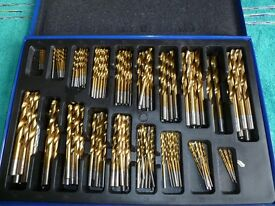 Quality drill bit set in case