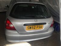 Honda Civic Harchback Call zee on (07448297271) Clean and drives well