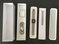 +++ UNUSED PERFECT CONDITION APPLE WATCH SPORT 38mm GOLD ALUMINIUM CASE WITH LAVENDER SPORT BAND +++