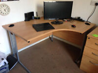 Corner desk office 80x120cm