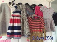 7x girls dresses 2-3yrs