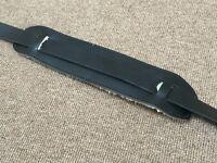 Long leather guitar strap; vintage design