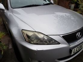 06 Lexus IS 220d Silver. Cream Leather. Front & Rear Parking. Parking Camera. Service History