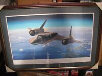 'Habu at Mach 3' SR-71 Blackbird Limited Edition Framed 211 of 500 by Philip West, artist signed