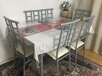 6 seater glass dinning table