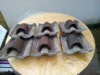 6 Double Roman original (1950s) converted vented roof tiles