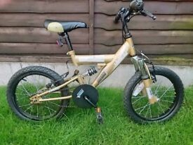 Boys Urban Racer Front & Rear Suspension Bike - Age 5-7yrs