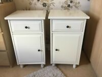 Pair off-white bedside cabinets