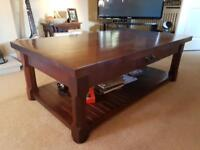 Very heavy solid wood coffee table