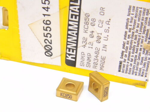 NEW SURPLUS 10PCS. KENNAMETAL  SNMP 432  GRADE: KC850 CARBIDE INSERTS
