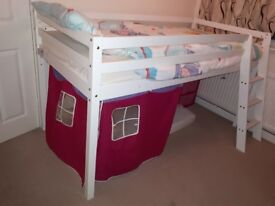 White Childrens Cabin Bed
