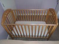 Mothercare Playbead Cot (Beech) + Mattress £50