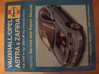 Vauxhall- Astra Service & Repair Manual-Petrol Feb 1998 on