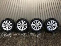 "Genuine 16"" Volkswagen Golf polished face alloy wheels - 5x112 - Will fit audi, Skoda, Seat."