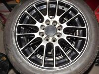 """SET OF 4 COSMIC ALLOY WHEELS 15"""" MULTI- STUD FITS FORD AND PEUGEOT"""