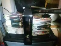 Xbox 360 Slim Kinect and 20 games
