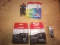 Canon Cli-526 and 525 Ink Cartridges - Black AND Cyan/Magenta/Yellow